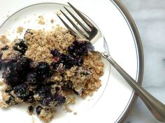 Taffeta & Tulips - Low Fat Blueberry Crisp