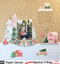 Paper Issues: We Wish You A Merry Working Title! Christmas Scrapbook Layouts, Scrapbook Designs, Scrapbook Paper Crafts, Christmas Layout, Love Scrapbook, Birthday Scrapbook, Scrapbook Page Layouts, Scrapbook Albums, Scrapbook Supplies