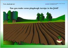 More free printable farm playdough mats