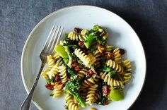 The Splendid Table's Pasta with Two Broccolis and Raisin-Pine Nut Sauce, a recipe on Food52