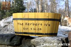 Personalized Wood Planter -Mothers Day Gift- Yellow Cedar- 5th Anniversary Gift - Garden Gift - Hand Engraved Wood Planter- Oval Shaped on Etsy, $78.00