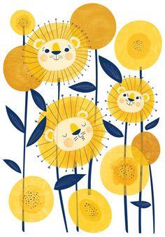 Lion or dandelion illustration