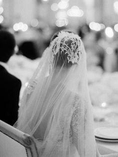 mantilla wedding veil, photo by rylee hitchner