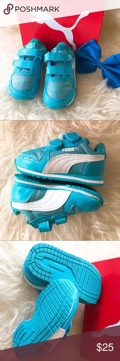 Puma Baby Blue Sneakers NWIB size 4c Puma Shoes Baby & Walker