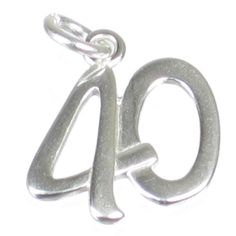 1ceced2cb4c £8.1 GBP - 40 Sterling Silver Charm .925 X 1 Birthday Age Number Forty  Charms Dkc53033  ebay  Fashion