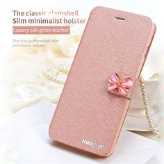 Flip Case For iPhone 7 7 Plus 6 6s 6s Plus 5 5s SE Shell Luxury Flip Silk Leather Wallet Stand Cases Beautiful Diamond Covers  #Repin by https://www.kensington-bespoke.uk - Bringing the #chic and #style of #Kensington High Street direct to your home.