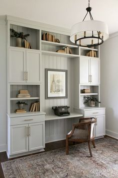 Create a built-in Office Using Cabinets
