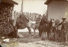 Sisters of Providence prepare to leave on a begging tour in the Kootenay, British Columbia, c. 1896 by Providence Archives, Seattle, via Flickr