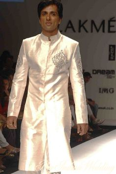 a shimmery sherwani for the groom? #indianwedding