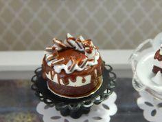 Miniature Handmade Black and White Cheesecake by JansPetitPantry