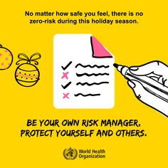 Protect yourself and others, be your own risk manager! #COVID19 Funny Disney Jokes, International Health, Safety Posters, Campaign Posters, World Health Organization, Free Printable Worksheets, Bullet Journal Ideas Pages, How To Protect Yourself, Health Advice