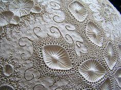 Close up detail of porcelain wall piece. www.facebook.com/mairi.stone.ceramics