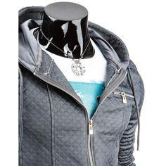 Pánská stylová mikina grafitová Hooded Jacket, Leather Jacket, Athletic, Jackets, Fashion, Jacket With Hoodie, Studded Leather Jacket, Down Jackets, Moda