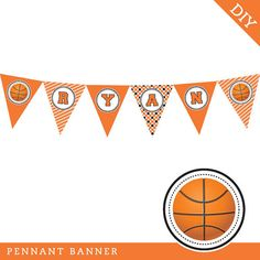 Basketball party - Personalized DIY printable banner on Etsy, $12.00