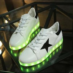 Adults Led Usb Charging Glowing Sneakers Hook Loop Footwear Unisex Fashion Luminous Casual Shoes For Men Women Dancing Shoes Perfect In Workmanship Shoes Men's Shoes