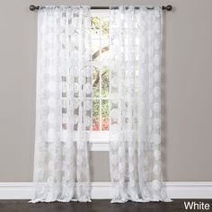 Count on compliments when you decorate your home with Arlene Window Panels. A sheer base fabric with beautiful floral embroidery adds touch of softness and pure elegance.