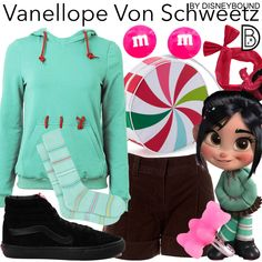 Disney Character Outfits, Character Inspired Outfits, Disney Bound Outfits, Disney Dresses, Vanellope Von Schweetz, Disney Artwork, Wreck It Ralph, Teen Fashion Outfits, Disneybound