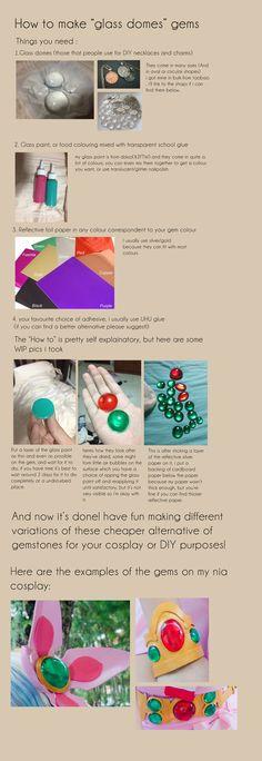 Glass dome gem tutorial by Ika-xin.deviantart.com on @deviantART