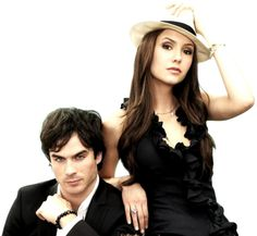 Vampire Diaries, but this looks like the perfect version of Christian Grey and Anastasia Steele to me...