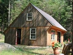 "Saltbox Garage with Loft | The ""Shed"" is a 20x26 Saltbox with a garage door which could be used ..."