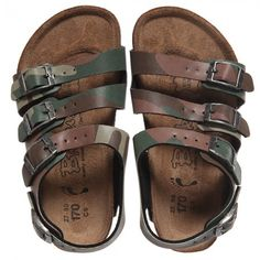 Birkenstock - Boys Leather Camouflage Sandals | Childrensalon