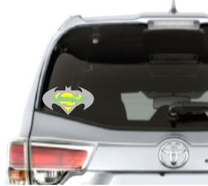 Batman Superman Car Decal High Quality Outdoor Vinyl - Whimsical Embroidery Designs