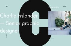 Personal portfolio of client work made by Charlie Isslander. Portfolio Web Design, Personal Portfolio, Website Layout, Graphic Design, Editorial, Color, Colour, Colors, Web Layout