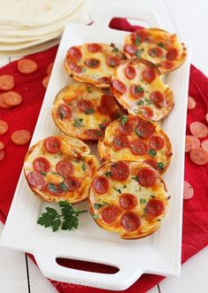 Easy Mini Tortilla Pizzas