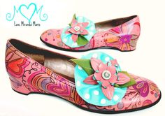 Hand Painted Shoes with Hearts by Love, Miranda Marie! Cute!