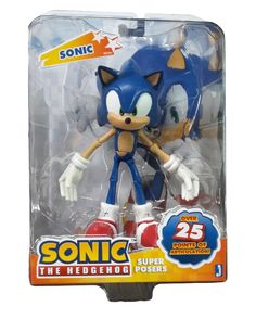 """Partytoyz Inc. - Sonic The Hedgehog 6"""" Super Poser Figure, $54.99 (http://www.partytoyz.com/sonic-the-hedgehog-6-super-poser-figure/)"""