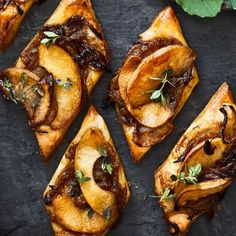 Caramelized Onion and Apple Tarts with Gruyère and Thyme | Williams Sonoma