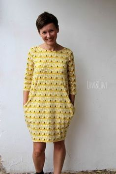 kleid von Leni Pepunkt Shirtkl… liiviundliivi: The round must be in the square – Kantig.kleid by Leni Pepunkt Shirt dresses >>> Sewing Dress, Love Sewing, Sewing Clothes, Diy Clothes, Clothes For Women, Diy Fashion, Ideias Fashion, Womens Fashion, Dress Patterns