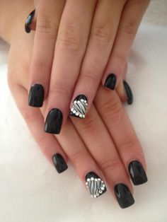 Cute nails.I would substitute for a cute pink. I got these done for prom