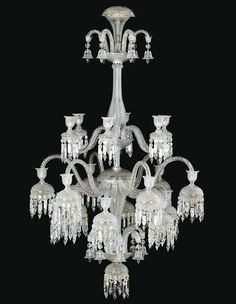 Baccarat Crystal Chandelier unique and dripping (no pun intended) with glorious crystals.