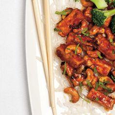Tofu and Cashew Stir-Fry Tofu Recipes, Cooking Recipes, Healthy Recipes, Healthy Meals, Fried Beans, Vegetarian Main Course, Tofu Stir Fry, New Cooking, Food Recipes
