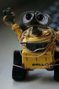 WallE , I can't tell you how many  Times Iv seen this movie ?, My little London  Is so in love with this movie , He started watching this when he' was 1, Now he's 4 , and I made his room  All about space and robots ;Dlol