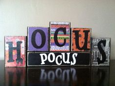 Halloween Decor Halloween sign Wood hocus by WoodnExpressions
