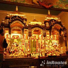 Imagens de deus Krishna no altar sagrado (Foto: Matheus Pinheiro de Oliveira e Silva)