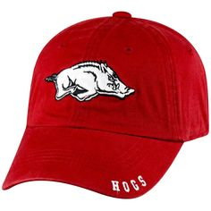 the best attitude b0109 3141b NCAA Arkansas Razorbacks Captain Adjustable TC Baseball Hat