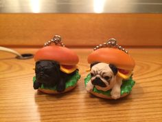 Bandai Hampugers–pugs squished in hamburger buns | Doggy bread!