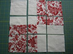 Love Laugh Quilt: February...Disappearing 4 patch