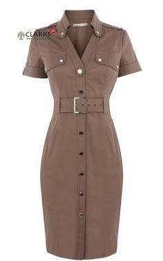 Karen-Millen-Cotton-Shirt-Dress-Khaki