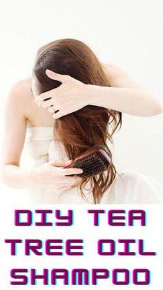Tea Tree Oil Shampoo, Unique Hairstyles, Dandruff, Hair Oil, Hair Type, Locks, Health Tips, Herbalism, Easy Diy