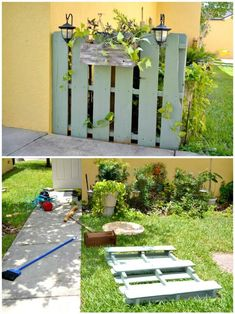Wooden Pallet Furniture How To Build Your Own Garden Pallet Fence - Pallet Projects - 150 Easy Ways to Build Pallet Projects - DIY Diy Pallet Sofa, Wooden Pallet Projects, Wooden Pallet Furniture, Pallet Fence, Diy Furniture, Pallet Ideas, Garden Furniture, Pallet Tables, Pallet Boards
