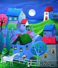 View Iwona Lifsches's Artwork on Saatchi Art. Find art for sale at great prices from artists including Paintings, Photography, Sculpture, and Prints by Top Emerging Artists like Iwona Lifsches. Art Populaire, Naive Art, Whimsical Art, Fine Art Paper, Find Art, Home Art, Saatchi Art, Original Paintings, Illustration Art