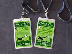 Soccer Party VIP Pass Lanyard Birthday by TSNDigitalDesigns