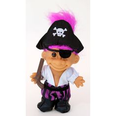 Amazon.com: My Lucky Pirate Troll Doll: Toys & Games