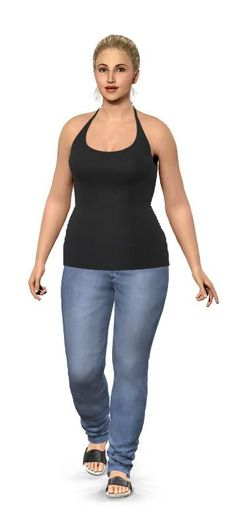 Virtual model of myself at my current weight and height... stay motivated!