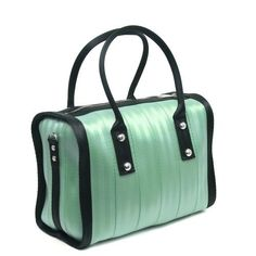 Harveys Seatbelt Bags Marilyn Satchel - Spring Colorblock, Mint & Black by Handbag Trends