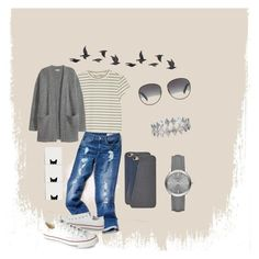 """""""Ready to go"""" by vanessa008 on Polyvore featuring Monki, Tommy Hilfiger, Converse, Tom Ford, FOSSIL, Bony Levy, Burberry, Kofta and Jayson Home"""